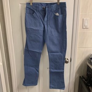 Men's pants with cool button and great back detail